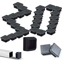 GZjiyu - 30 tapones de plástico para tubería cuadrada, 40 x 40 mm, para deslizadores de muebles, tapas protectoras…