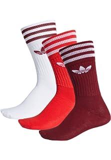 Adidas Solid Crew Sock - Calcetines, Unisex Adulto, Rojo(Buruni/ROJUNI/