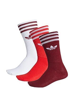 Adidas Solid Crew Sock - Calcetines, Unisex Infantil, Rojo(Buruni/ROJUNI/Blanco): Amazon.es: Deportes y aire libre