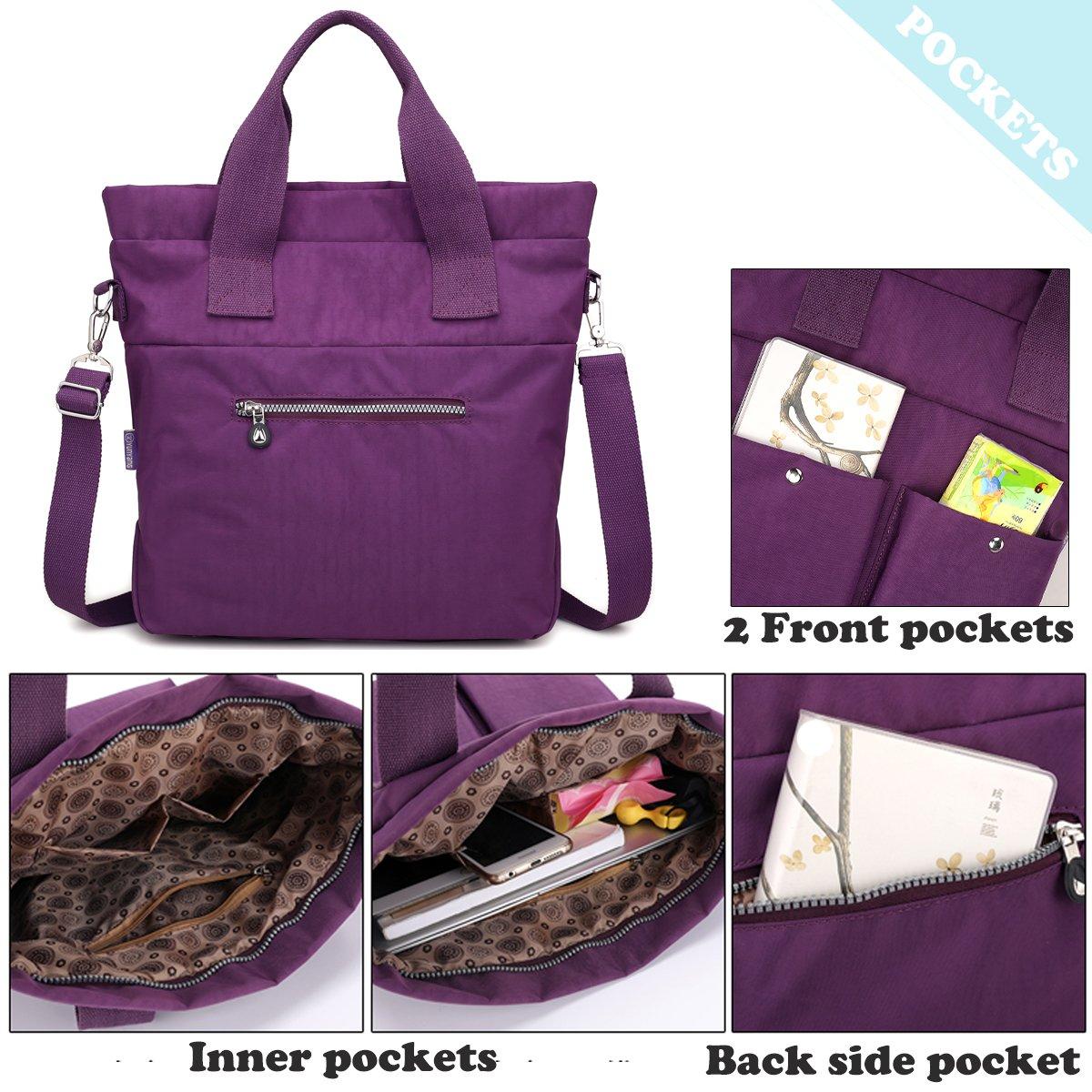 Women Nylon Shoulder Bag Satchel Handbag, Myhozee Water Repellent Travel Work Tote Bag Cross body Bag by Myhozee (Image #4)