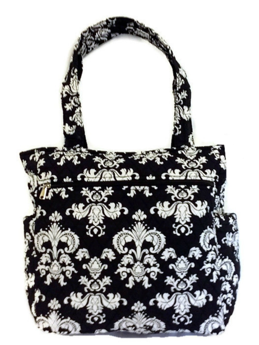 Large Travel Beach Tote Quilted Cotton Shoulder Bag - 15 inches