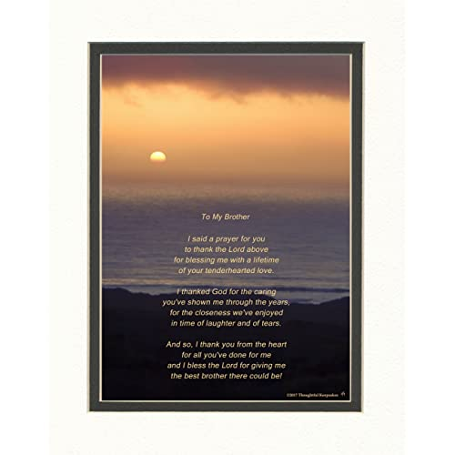 Brother Gift With Thank You Prayer For Best Poem Ocean Sunset Photo
