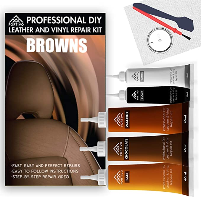 Leather Vinyl Repair Kit For Furniture Car Seats Sofa Rip Jacket Scratch Y0S8