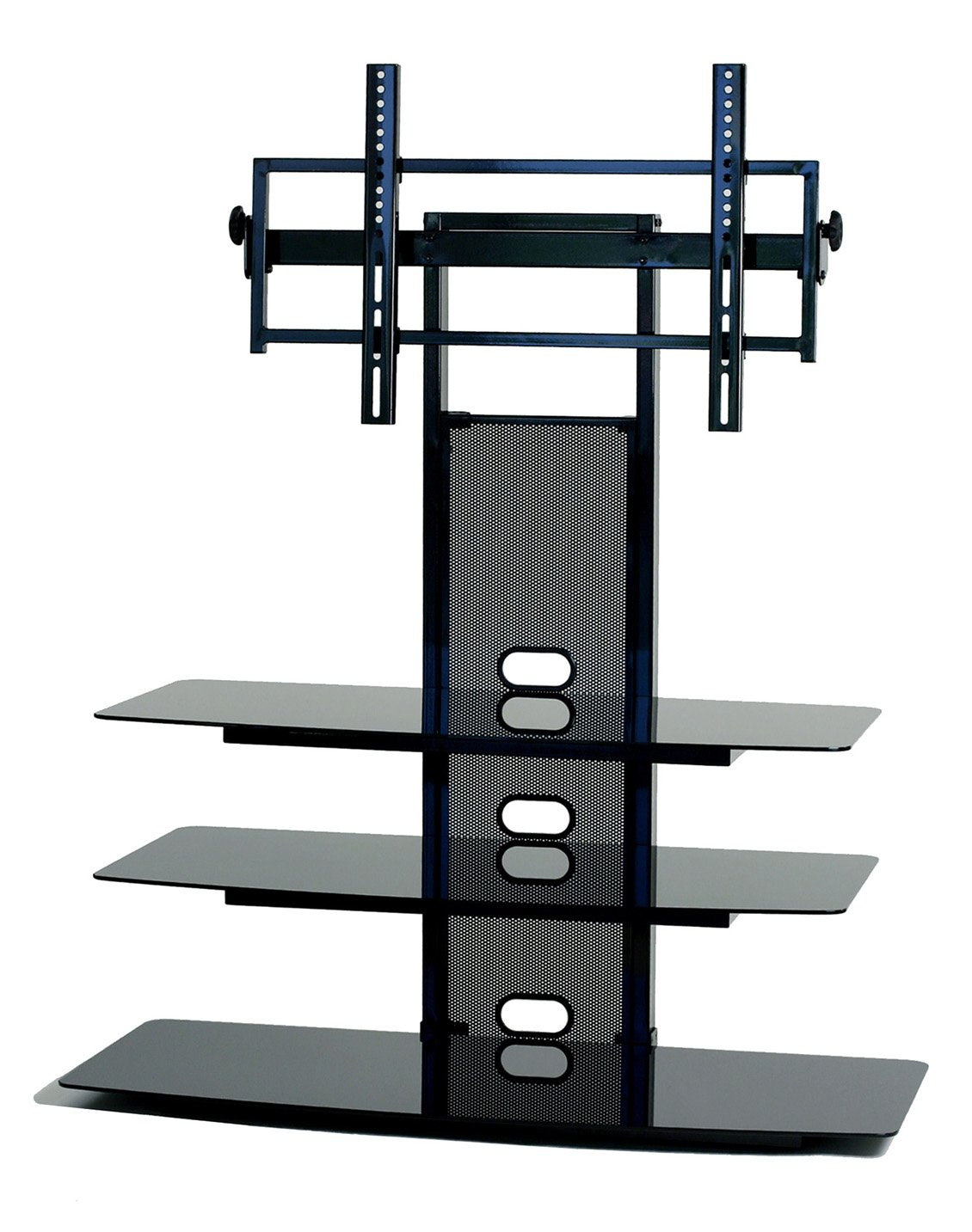 amazoncom transdeco tv stand with universal mounting system for 35 to 65inch ledlcd tv kitchen u0026 dining
