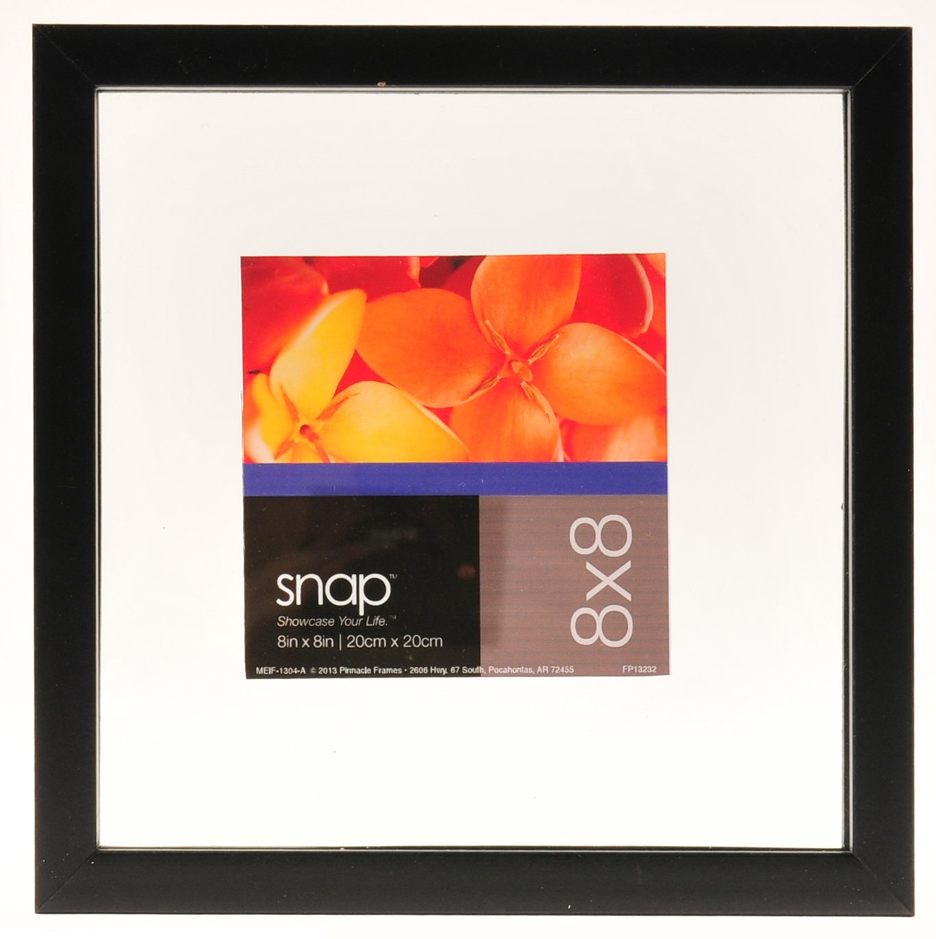 Snap 8x8 Black Float Frame for Floating Display of 6x6 Image by Snap
