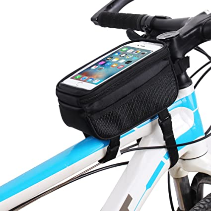 6a093db119f Aeoss Bicycle Road Bag Mobile Phone Tube Front Bike Frame Waterproof Cell  Phone Bag D