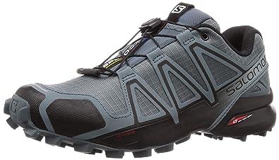 cb58f894e0f2e Salomon Men's Speedcross 4 Trail Running Shoe Black/Stormy Weather, 7  Standard Width US