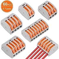 60 Pcs Conectores de Cable compactos Palanca Tuerca
