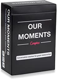 OUR MOMENTS Couples: 100 Thought Provoking Conversation Starters for Great Relationships - Fun Conversation Cards Game for Co