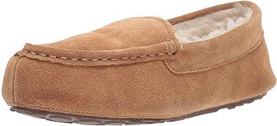 Amazon Essentials Women's Leather Moccasin Slipper