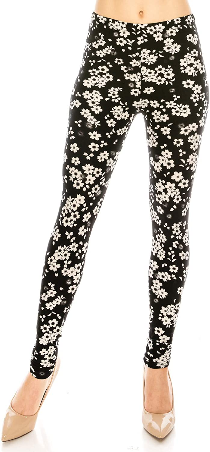 The Leggings Gallery Womens Printed Fashion Leggings Ultra Soft Solid /& Patterned Regular//Plus Sizes