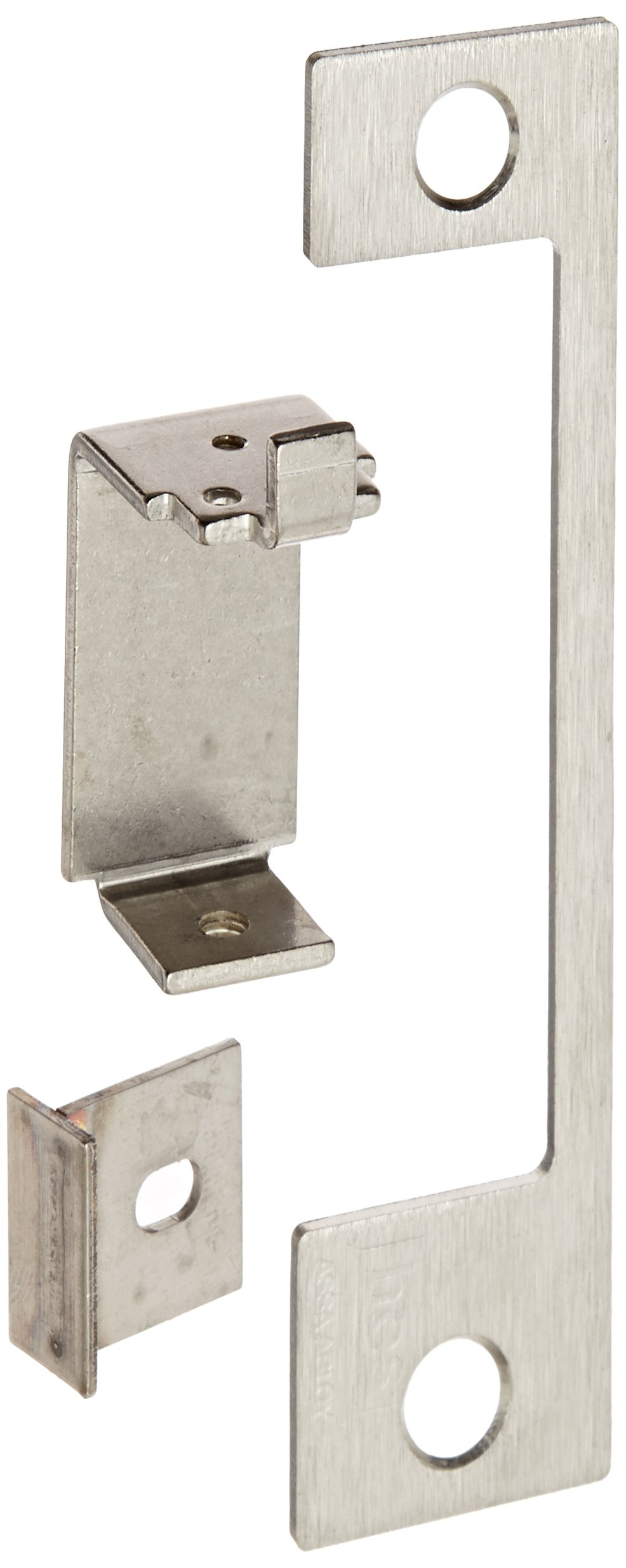 HES Stainless Steel HTD Faceplate for 1006 Series Electric Strikes for Mortise Lockset with Center Lined Deadlatch, Satin Stainless Steel Finish