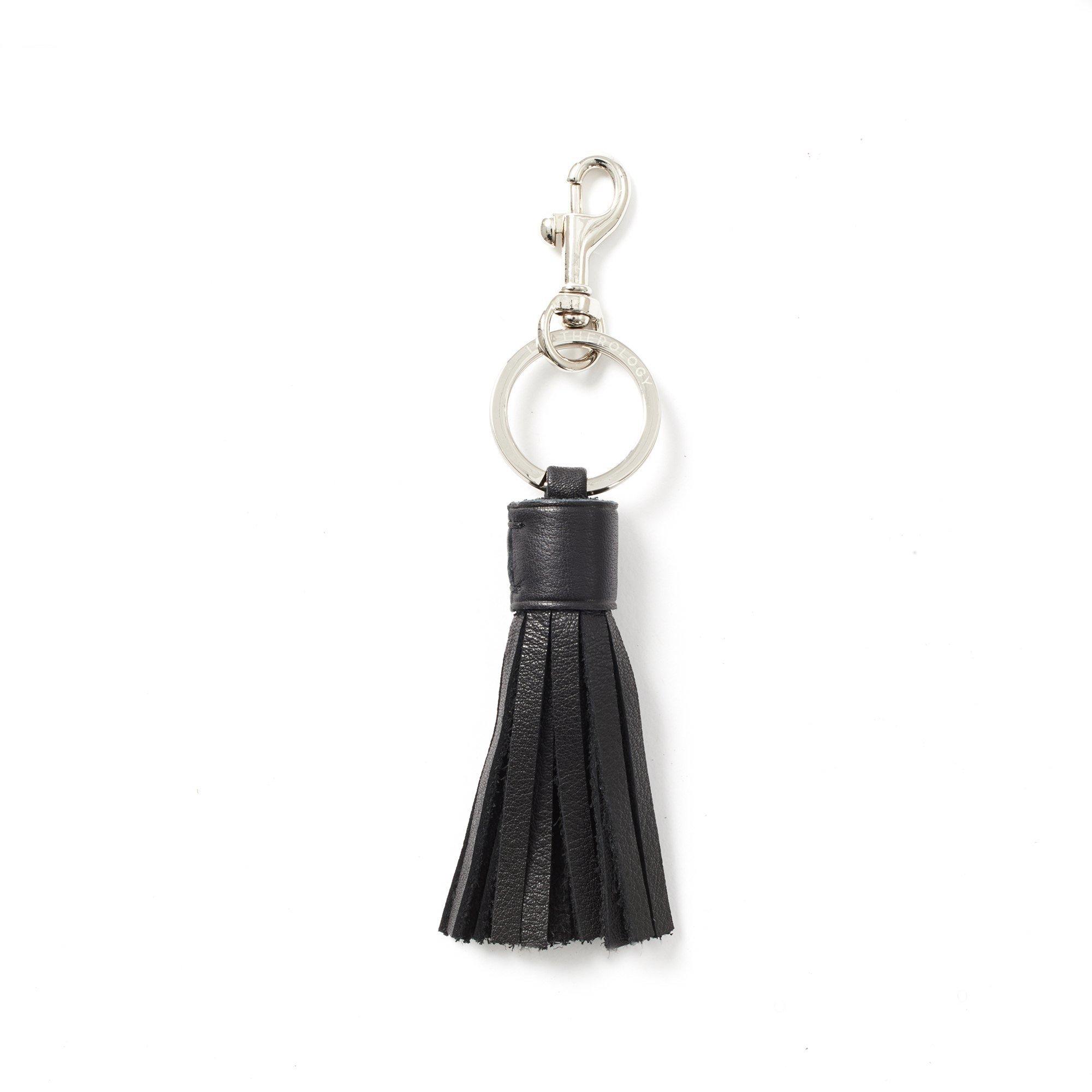 Tassel Key Chain - Full Grain Leather - Black Onyx (black)