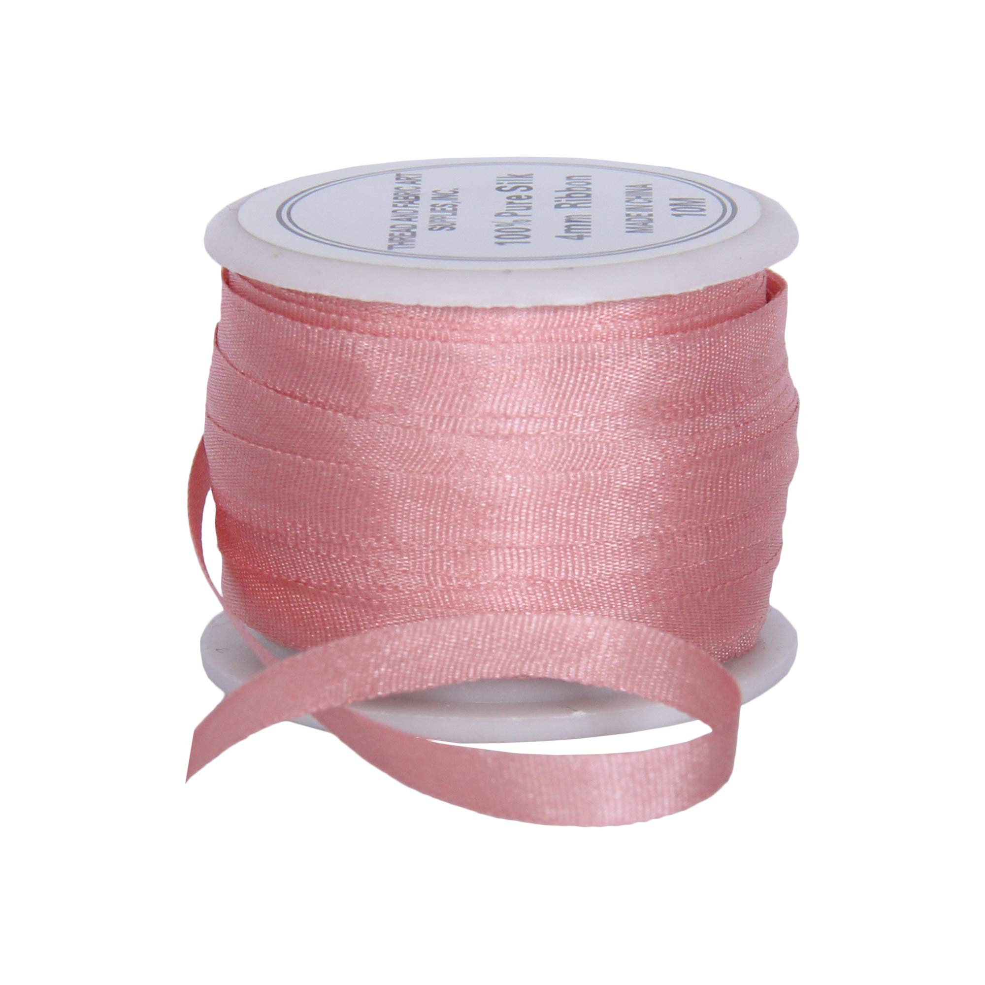 4mm Pale Pink Threadart 100/% Pure Silk Ribbon No 50 Colors 540-3 Sizes