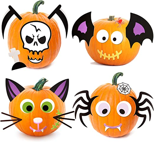 Joyjoz Halloween Kurbis Schaum Aufkleber 25 Stuck Kurbis Dekorieren Bastelset Fur Halloween Party Dekoration Nette Halloween Dekor Amazon De Kuche Haushalt
