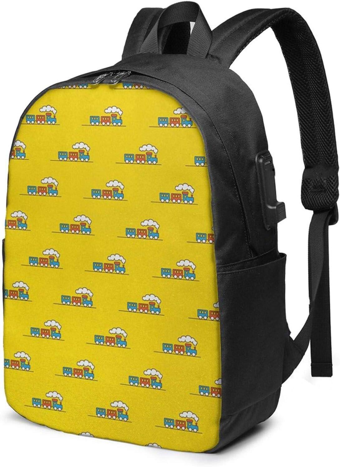 WEQDUJG Mochila Portatil 17 Pulgadas Mochila Hombre Mujer con Puerto USB, Corazones al Azar Palabras de Amor Loco Mochila para El Laptop para Ordenador del Trabajo Viaje