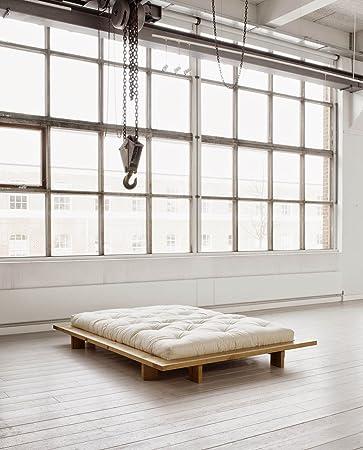 Japanische Futonbetten futonbett kiefer massiv naturbelassen 160cm x 200cm amazon de