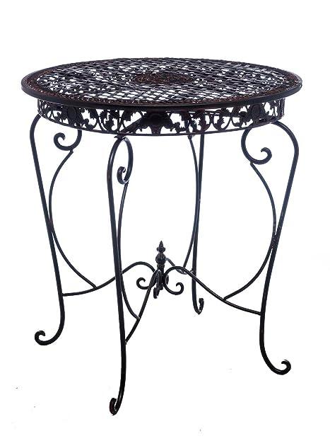 Gartentisch Tisch Garten Bistrotisch Eisen Antik Stil Gartenmöbel Braun