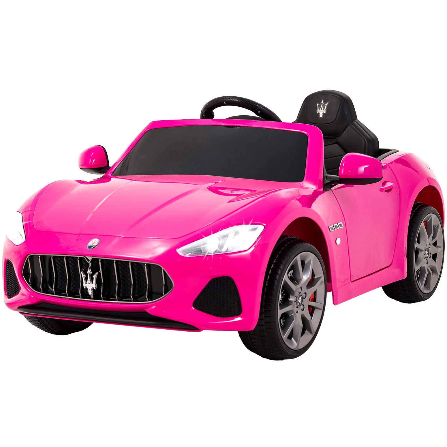 Uenjoy Maserati Grancabrio 12V Electric Kids Ride On Cars Motorized Vehicles for Girls W/Remote Control, Wheels Suspension, Mp3 Player, Light, Pink