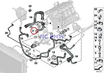 amazon com bmw genuine cooling coolant hose engine supply coolant rh amazon com 2000 bmw 328i radiator diagram bmw 328i cooling system diagram