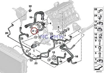 amazon com bmw genuine cooling coolant hose engine supply coolant rh amazon com Cooling System Flow Diagram Cooling System Flow Diagram