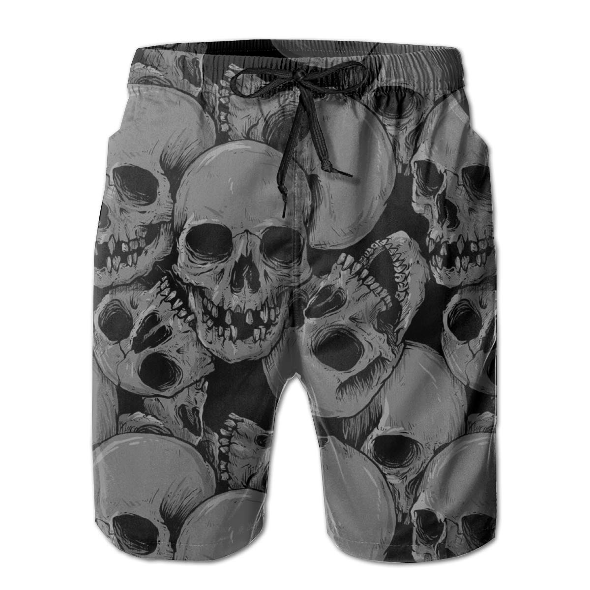 A Lot of Skulls TLDRZD Men/¡/¯s Boardshorts Perfect Swimsuit//Swim Trunks//Board Shorts for The Beach//Surfing//Pool//Swimming
