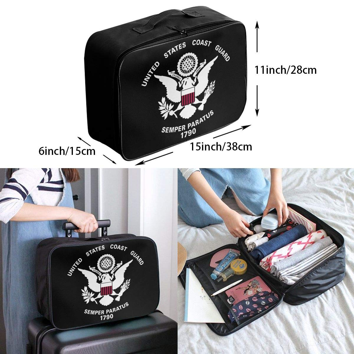 United States Coast Guard 1790 Travel Bag Men Women 3D Print Pattern Gift Portable Waterproof Oxford Cloth Luggage Bag