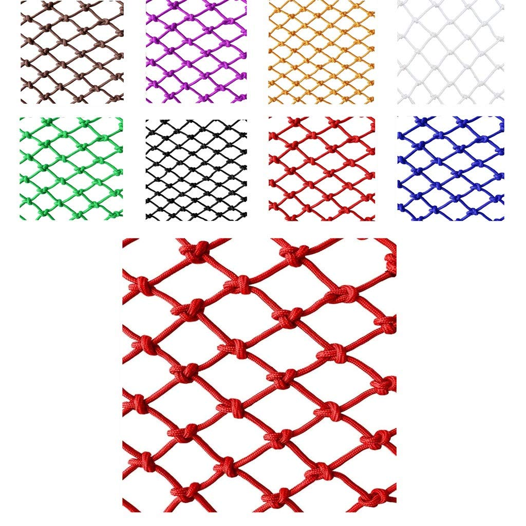Children's Cats and Dogs Pet Animal Safety Net Protection Net Rope Net Shatter-resistant Net Color Decorative Net, Used for Amusement Park Garden Tunnel Nylon Net (color: Red) (size: 6mm Rope 8cm Hole by Wlh
