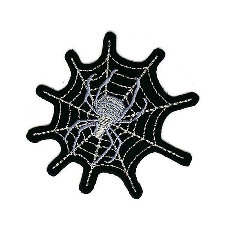 Spider Cobweb Cartoon Embroidered Sew Iron on Patch Cartoon Sew Iron on Embroidered Applique Craft Handmade Baby Kid Girl Women Cloths DIY Costume Accessories