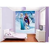 Walltastic 42957 Disney Reine des Neiges Papier Peint Multicolore 243.84 x 202.90cm