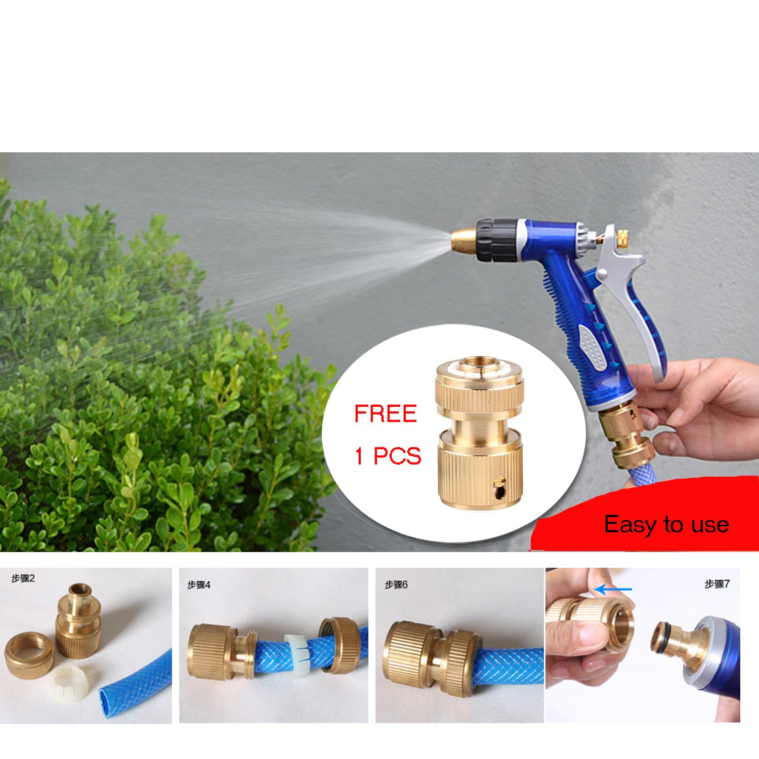 Car Cleaning Foam Gun Washing Foamaster Gun Water Soap Sprayer (Blue-Bi)