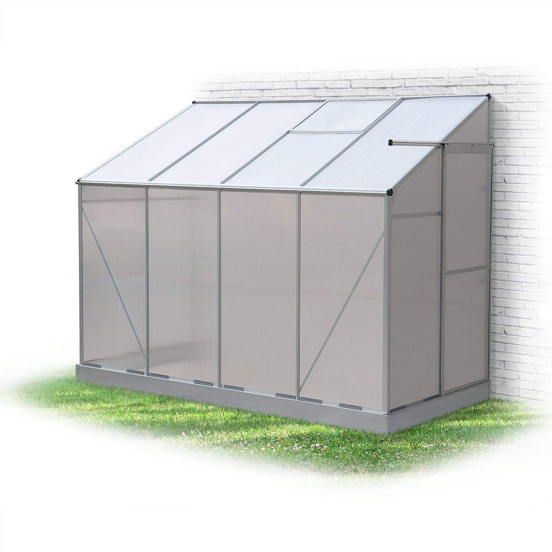 Serre De Jardin Adossée Murale Polycarbonate 3,65 M³ Abri Gel Plante Légume