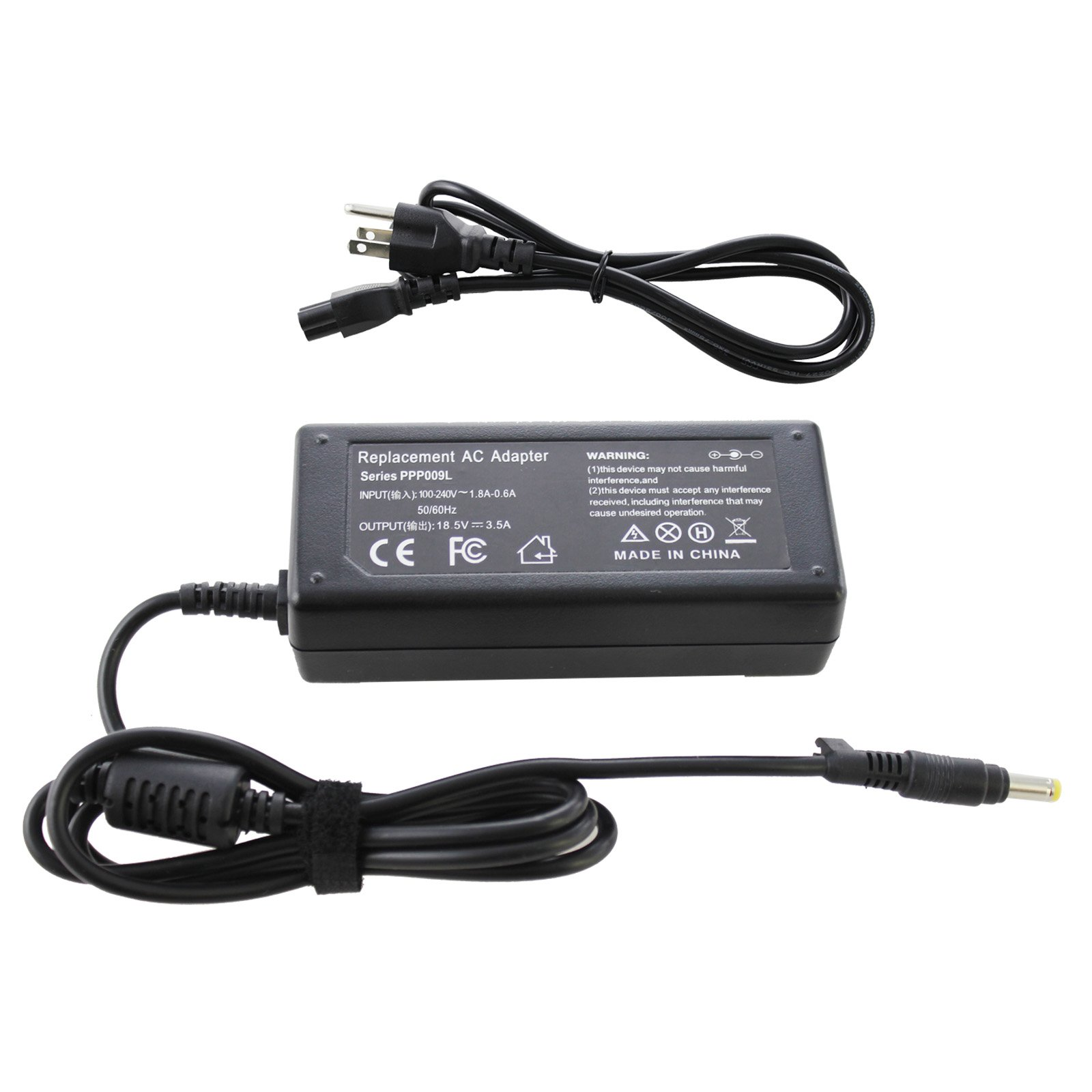 ANGWEL New 18.5V 3.5A 65W 4.8mm1.7mm Power Supply Charger for HP Pavillion DV2000, DV4000 ,DV6000 Adapter for HP 500, 510, 520, 530, 540, 541, 550