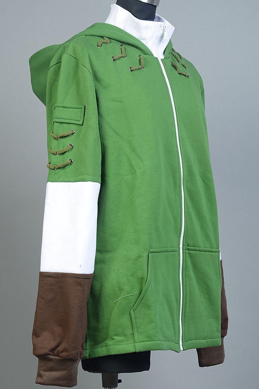 Ya-cos The Legend of Zelda Link Hooded Hyrule Warriors Zipper Coat Jacket Green (Green, Small) by Ya-cos (Image #3)