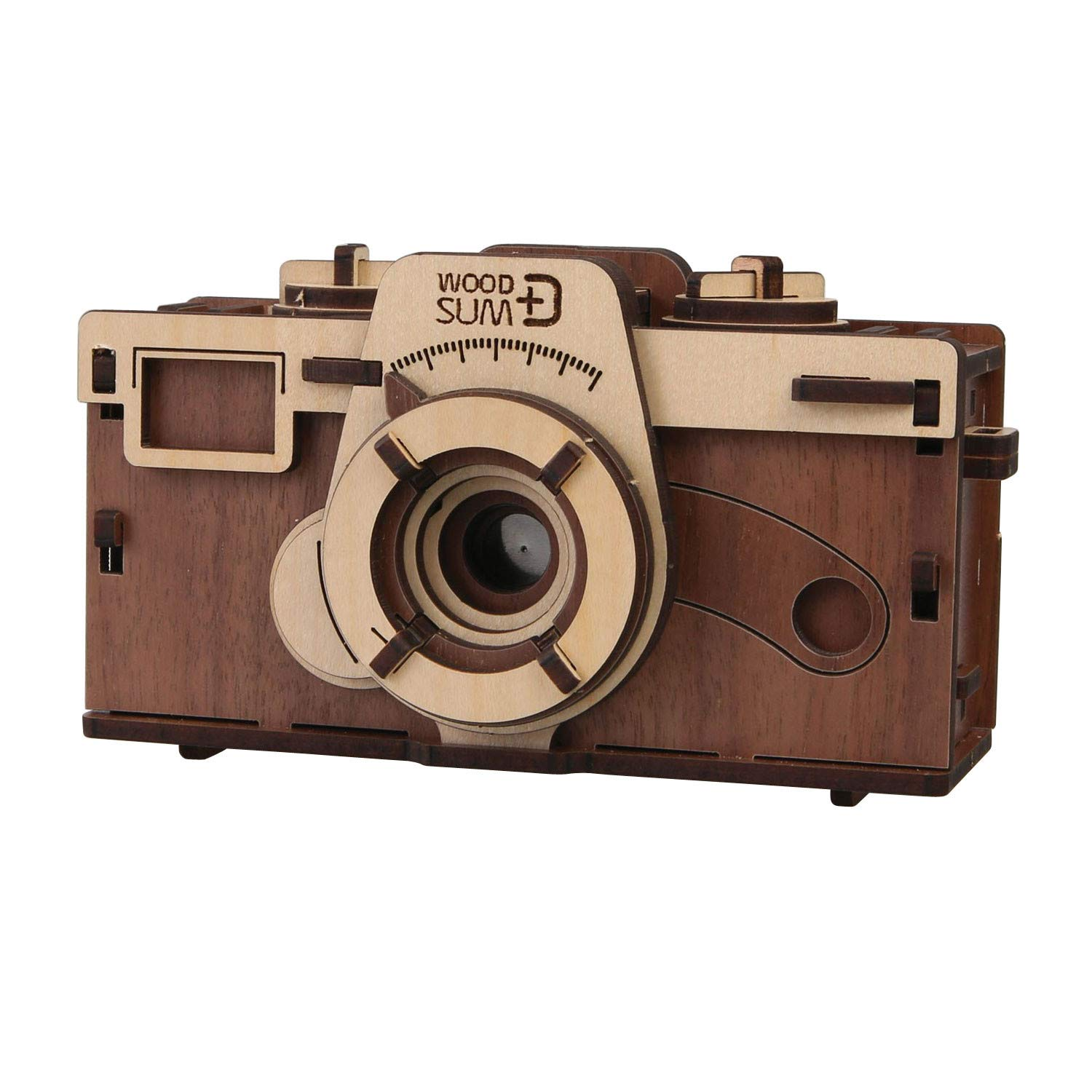 WHAT ON EARTH DIY Working Wood Pinhole Camera - Uses 35mm Film - 6'' x 2.5'' x 3.25'' by WHAT ON EARTH