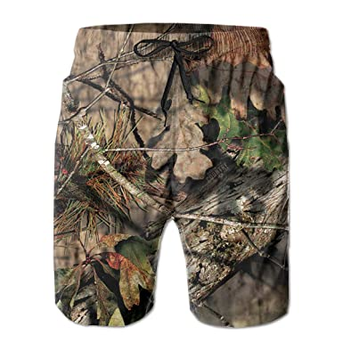 ff6ae66a6d HHHDAM Men's Swim Trunks Hunting Camo Beach Wear Board Casual Running Shorts  Quick Dry Swimming for