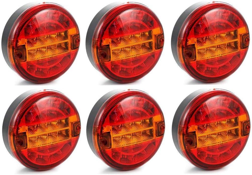 Luci Di Ingombro Da 12 V 24//7Auto Colore: Ambra Arancione Confezione Da 10 Per Rimorchio//Caravan