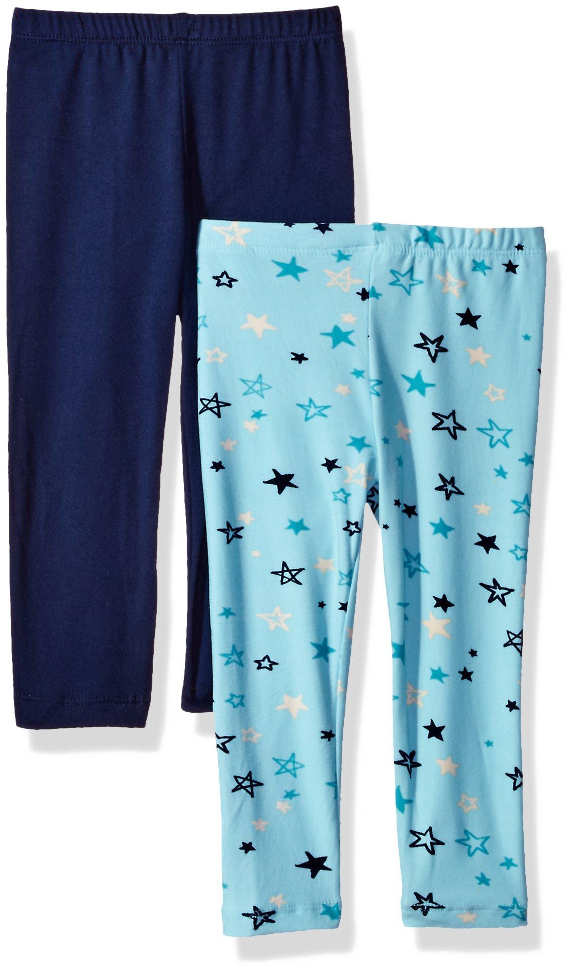 One Step Up Big Girls' 2 Pack Super Soft Legging, Mint/Medieval Blue, 10/12