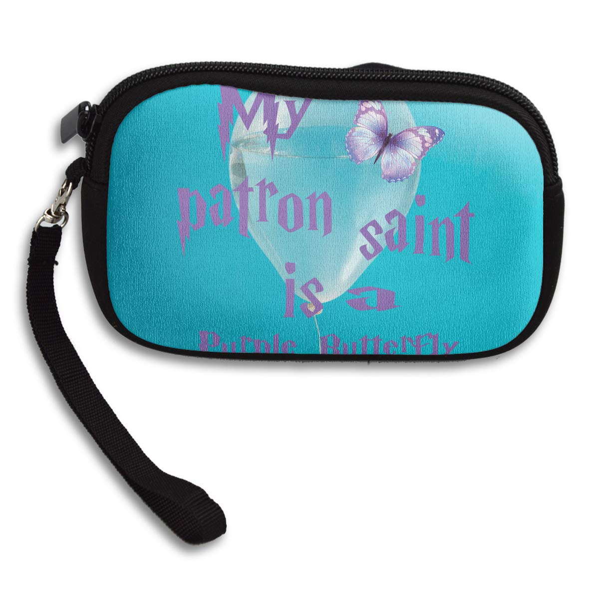 My Patron Saint Is A Purple Butterfly Deluxe Printing Small Purse Portable Receiving Bag
