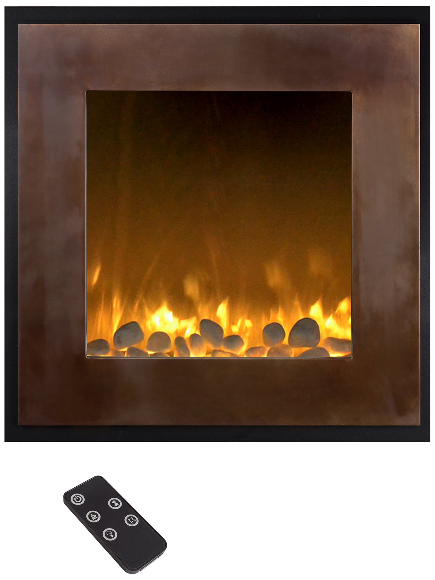 Northwest 80-NH24-2004 Electric LED Fireplace, 24 inch, Bronze/Black by Northwest