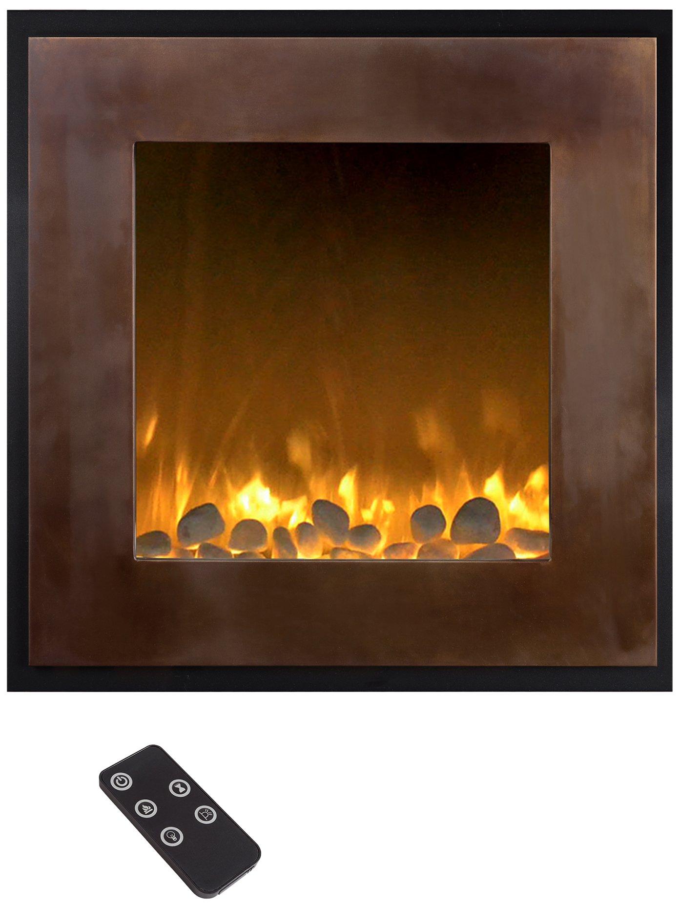 Northwest 80-NH24-2004 Electric LED Fireplace, 24 inch, Bronze/Black