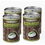 Naturseed - Nata de coco ecológica ORIGINAL 4x 400ml para cocinar, sin lactosa, sin aditivos, ni conservantes, 100% natural. Nata Vegetal