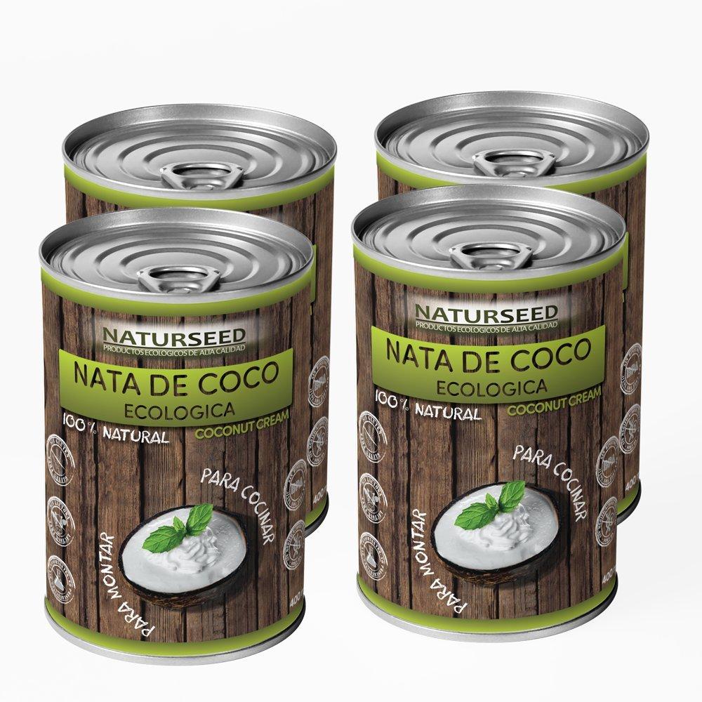 Naturseed - Nata de coco ecológica Premium para cocinar, sin lactosa. Nata Vegetal (4X400ML): Amazon.es: Alimentación y bebidas