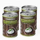 Naturseed - Nata de coco ecológica 4x 400ml para cocinar, montar, sin lactosa, sin aditivos, ni conservantes, 100% natural. Nata Vegetal