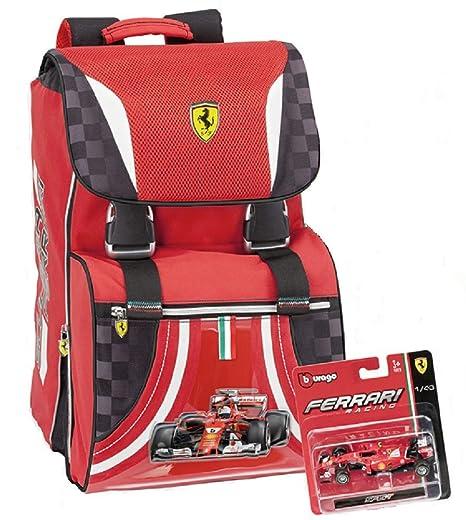 d07120bff1 Promo scuola Ferrari Zaino Estensibile Panini + gadget + Astuccio Triplo -  58241