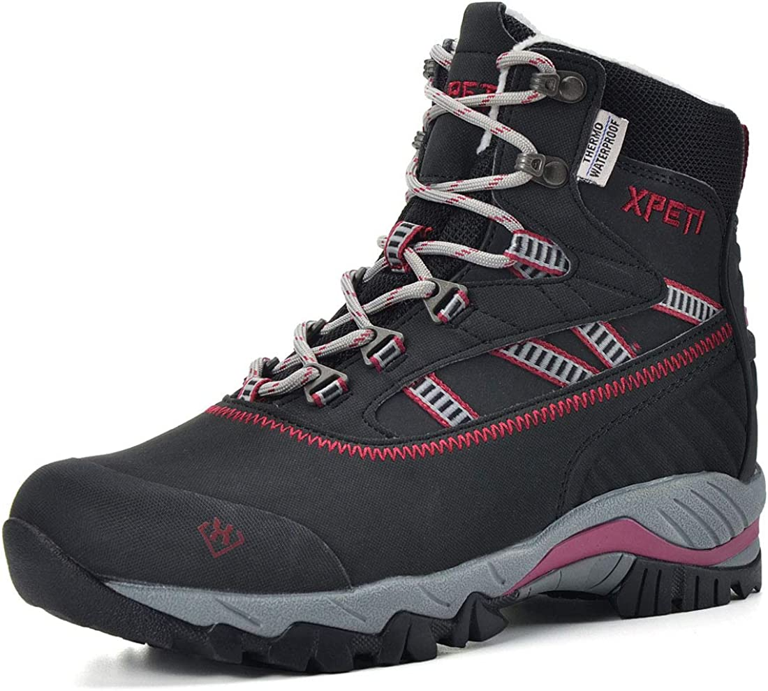 XPETI Women s Oslo Winter Snow Waterproof Hiking Boots