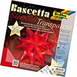Folia 820/2020 - Bastelset Bascetta Stern, Transparent, 20 x 20 cm, 32 Blatt, rot