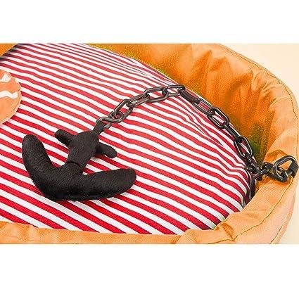 YQQ Cama para Mascotas del Barco Pirata Hippie Dog Perrera De Verano Cama De Perro Nido