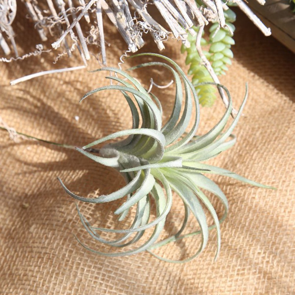 VORCOOL 2Pcs Artificial Pineapple Grass Fake Plant Leaf for Home Wedding Party