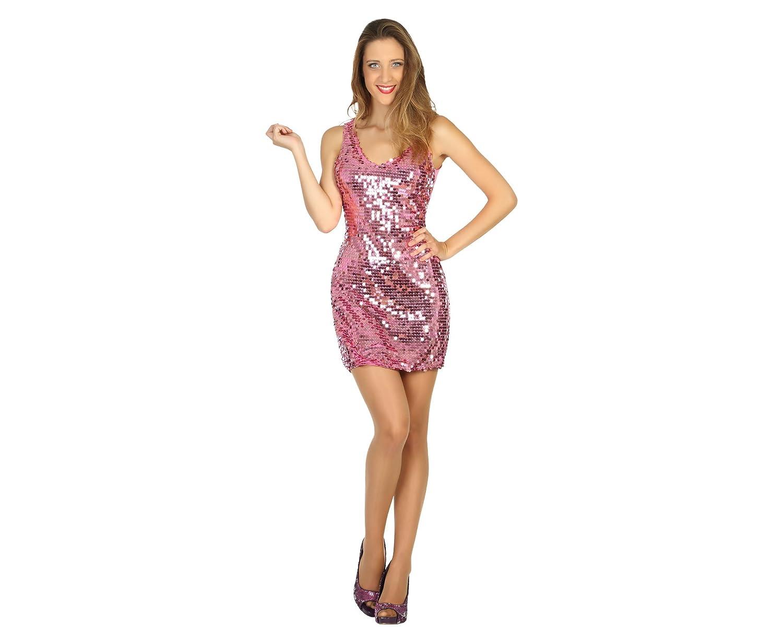 Atosa Disfraz vestido mujer disco, color rosa, M-L (30561): Amazon.es: Juguetes y juegos